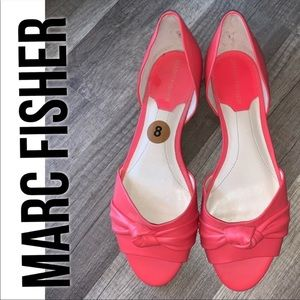 Marc Fisher Peep Toe Flats